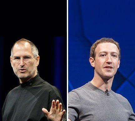 Estilos de liderazgo Jobs Zuckerberg