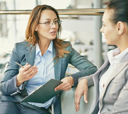 Técnica de selección haciendo una entrevista de trabajo
